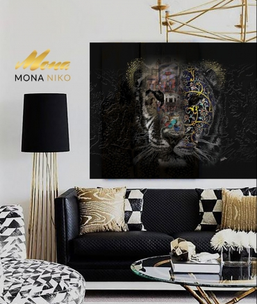 """Limited Edition The Tiger size: 30"""" x 30"""""""