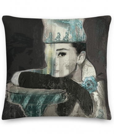 "Cushion ""Breakfast at Tiffany Audrey"""