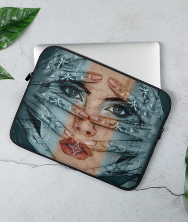 Hands on Face Laptop Case