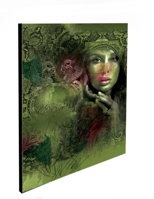 "Limited Edition Green Beauty Print size: 30"" x 30"""