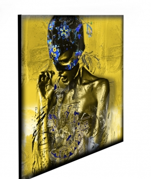"Limited Edition Woman in Yellow size: 30"" x 30"""