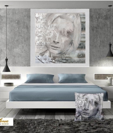 """Limited Edition Silver Lady Print size: 30"""" x 30"""""""