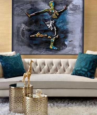 """Limited Edition Dancing Woman Print size: 30"""" x 30"""""""