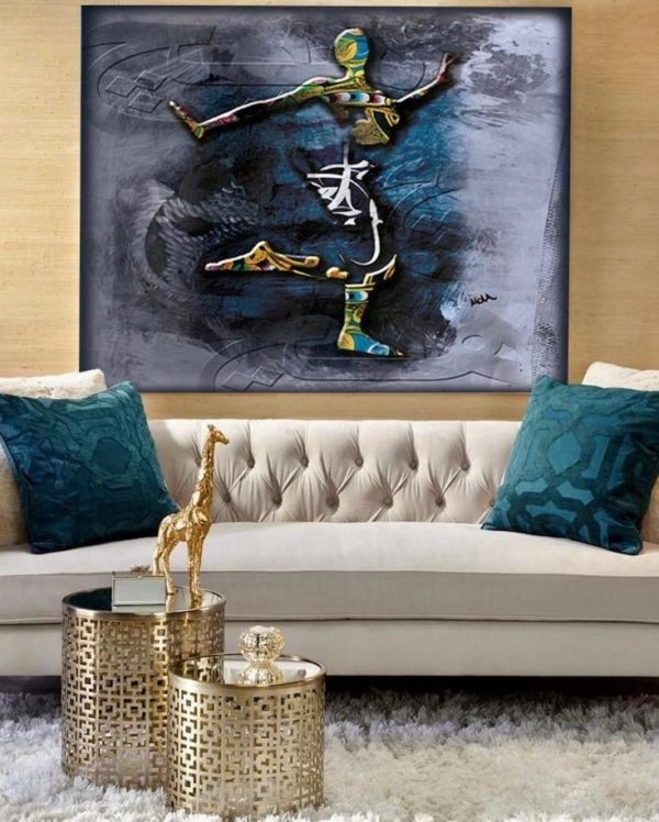 "Limited Edition Dancing Woman Print size: 30"" x 30"""