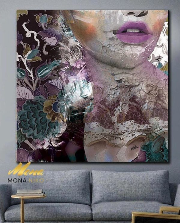 """Limited Edition Pink Lips Print size: 30"""" x 30"""""""