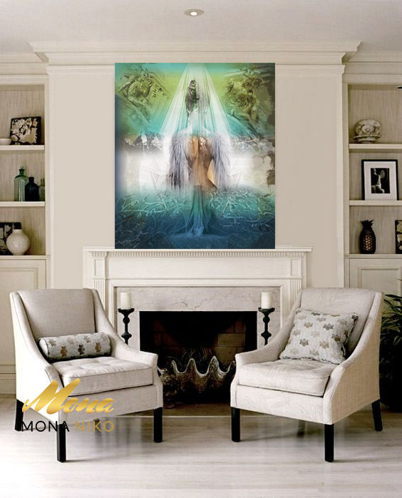 "Limited Edition Bride Angel Print size: 30"" x 30"""