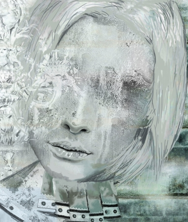 PAINING OF SILVER LADY Canvas Print