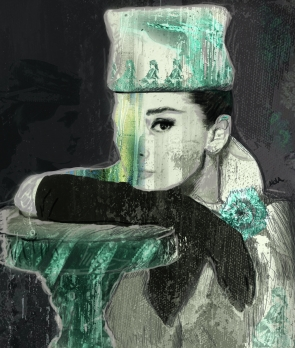 Breakfast at Tiffany`s,Audrey Hepburn Canvas Print